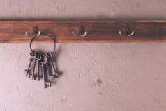 Ключи на крюках Стоковые Изображения