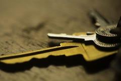 Ключи на таблице Стоковое Изображение RF