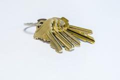 Ключи дома на кольце для ключей Стоковые Фото