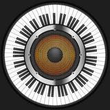Ключи рояля круга с диктором Стоковая Фотография