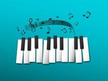 Ключи рояля, примечания музыки бесплатная иллюстрация