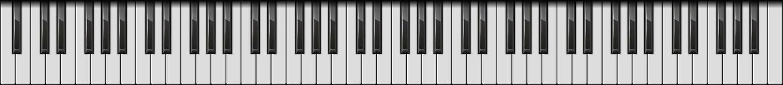 Ключи рояля 88 Реалистический стиль вектор бесплатная иллюстрация