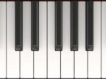 Ключи рояля Иллюстрация вектора