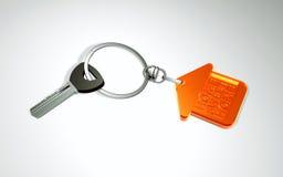 ключи 3d с кольцом для ключей в форме дома домашняя помадка Стоковая Фотография