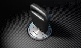 Ключ автомобиля в зажигании Стоковое Изображение