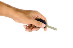 ключ автомобиля в руке Стоковые Фото