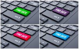 Ключ даты находки на клавиатуре компьютера Стоковые Изображения