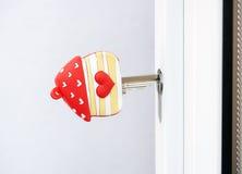 Ключ двери влюбленности домашний Стоковая Фотография
