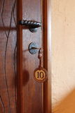 Ключ двери гостиницы в Аргентине Стоковые Фотографии RF