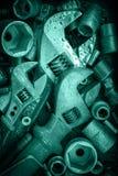 Ключ, винты, гайки Стоковые Изображения RF