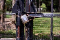 Ключ виньетки старые и ржавый Стоковые Изображения RF