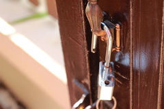 Ключ в замке Стоковые Фото