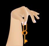 Ключ в руке Стоковая Фотография RF