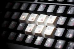 Ключ влюбленности клавиатуры Стоковые Изображения