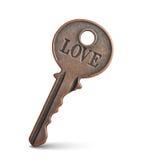 Ключ влюбленности Стоковое Фото