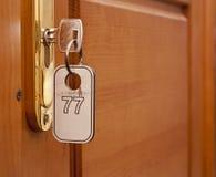 Ключ в keyhole Стоковое Фото