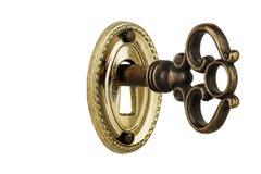 Ключ в keyhole Стоковые Фото