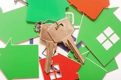 Ключ и домашний знак Стоковое Фото