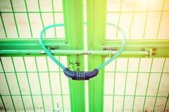 Ключ и цепь замка Стоковое Изображение