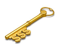ключ к богатству Стоковое Изображение