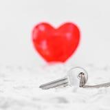 Ключ к влюбленности Стоковое Изображение RF