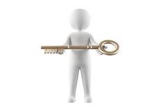 Ключ к успеху Стоковая Фотография RF