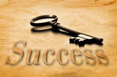 Ключ к успеху стоковые изображения