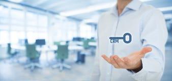 Ключ к успешному CRM стоковое фото