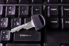 Ключ на ключе Стоковые Фотографии RF