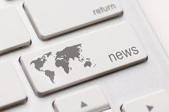 Ключ новостей Стоковая Фотография RF