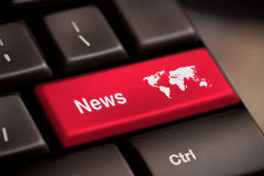 Ключ новостей Стоковое Изображение RF