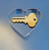 Ключ логотипа к моему сердцу Стоковые Изображения
