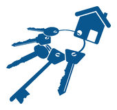 ключ дома имущества принципиальной схемы реальный Стоковая Фотография