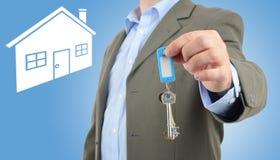ключ дома к Стоковые Фотографии RF