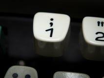 Ключ одно на винтажной машинке Стоковое Изображение RF