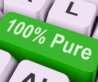 Ключ 100 процентов чисто значит абсолютное Uncorrupt Стоковое Фото