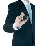 Ключ руки позиции бизнесмена стоящий для автомобиля Стоковые Изображения