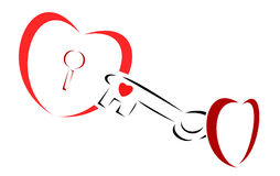 ключ сердца к Стоковое фото RF