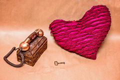 ключ сердца к Стоковые Фото