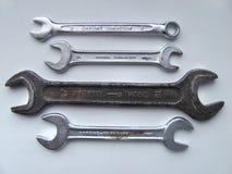 Ключ хрома и утюга Стоковые Фотографии RF