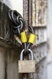Ключ для всех замков и цепь Стоковое Фото