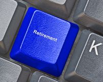 Ключ для выхода на пенсию Стоковая Фотография RF