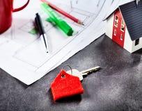 Ключ для иметь дома Стоковая Фотография