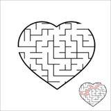 Лабиринт абстрактного сердца форменный малыши игры Головоломка для детей Один очаровывает, один выход Головоломка лабиринта Прост бесплатная иллюстрация