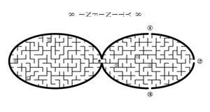 Лабиринт - безграничность стоковое изображение rf