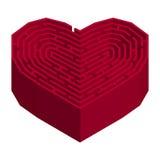Лабиринт в форме сердца Стоковое Изображение RF
