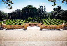 Лабиринт в Parc del Laberint Стоковое Фото