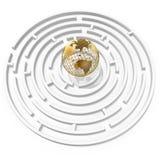 лабиринт глобуса Стоковые Фото