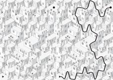 Лабиринт деревни иллюстрация вектора