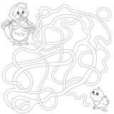 Лабиринт для детей воспитательные игры Найдите путь также вектор иллюстрации притяжки corel Стоковые Фото